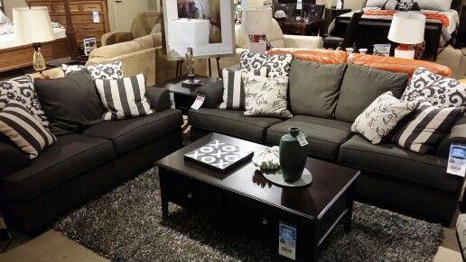 Ashley Furniture Sku 104134896 Levon Charcoal Loveseat 799 Sofa