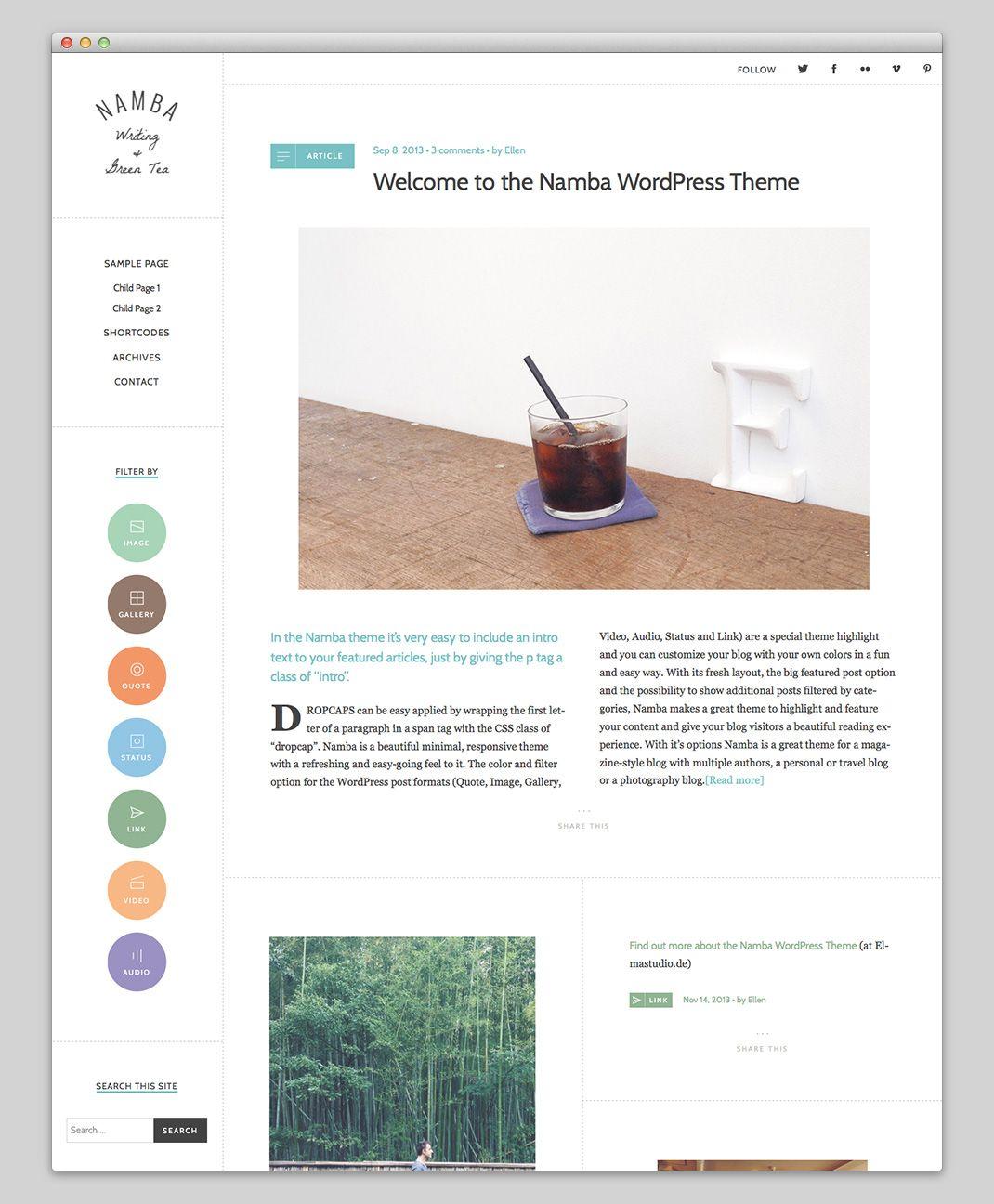10 Minimalistische Wordpress Themes für Blogs   Pixel Prinzip ...