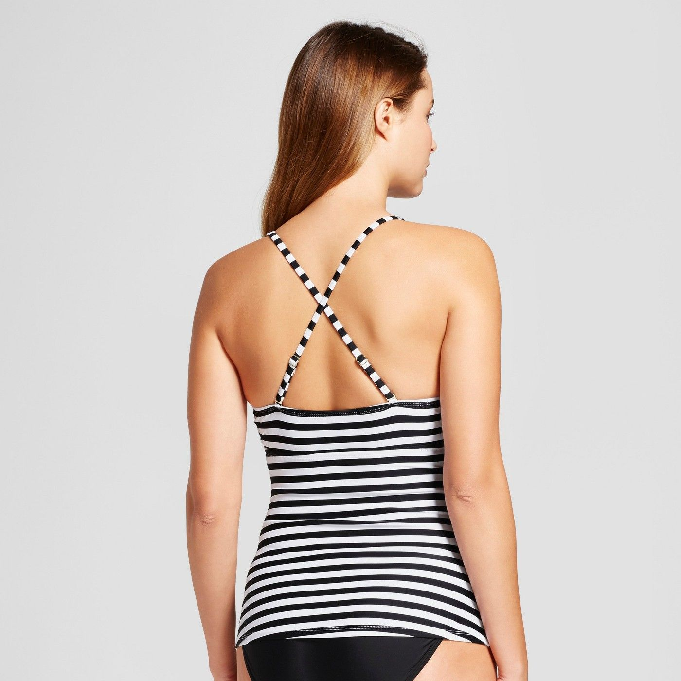f0f346ddfec0b Women's Scallop Tankini Top - Merona? Black/White Stripe M #Tankini, #Top, # Women
