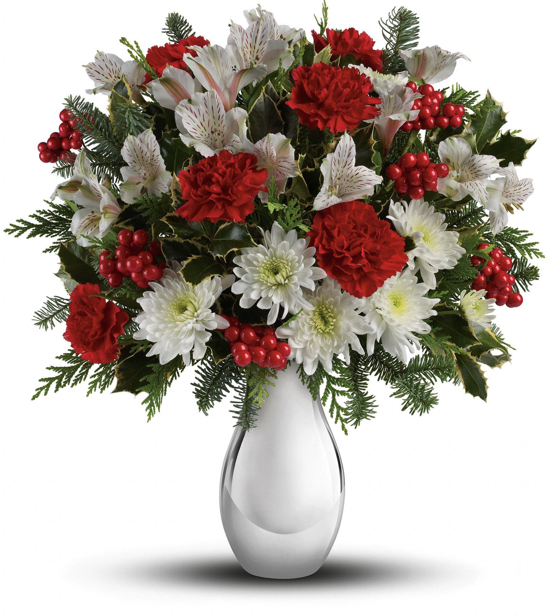 Cravos Vermelhos Astromelias Brancas E Crisantemos Brancos