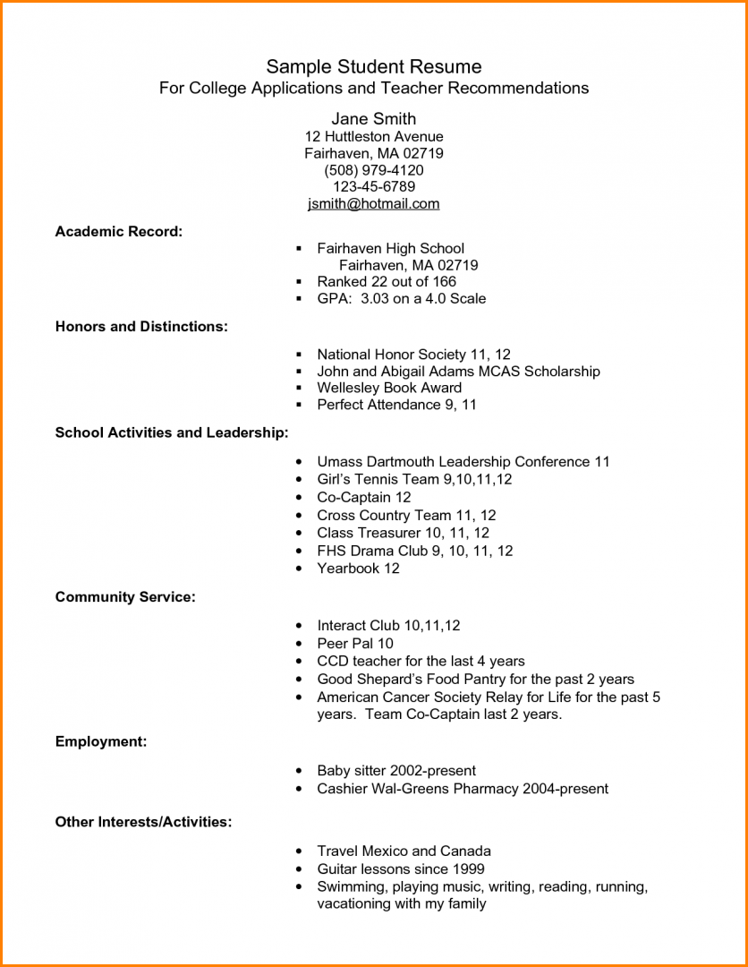 College Application Resume Examples Fair 7 Bad Resume Examples Pdf Paradochart  College  Pinterest  Resume .