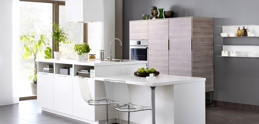 ikea kücheninsel weiss mit küchenschrank  ikea küche