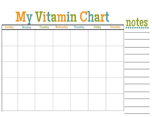 Lovely Little Snippets: Kids Vitamin Chart {Free Printable}
