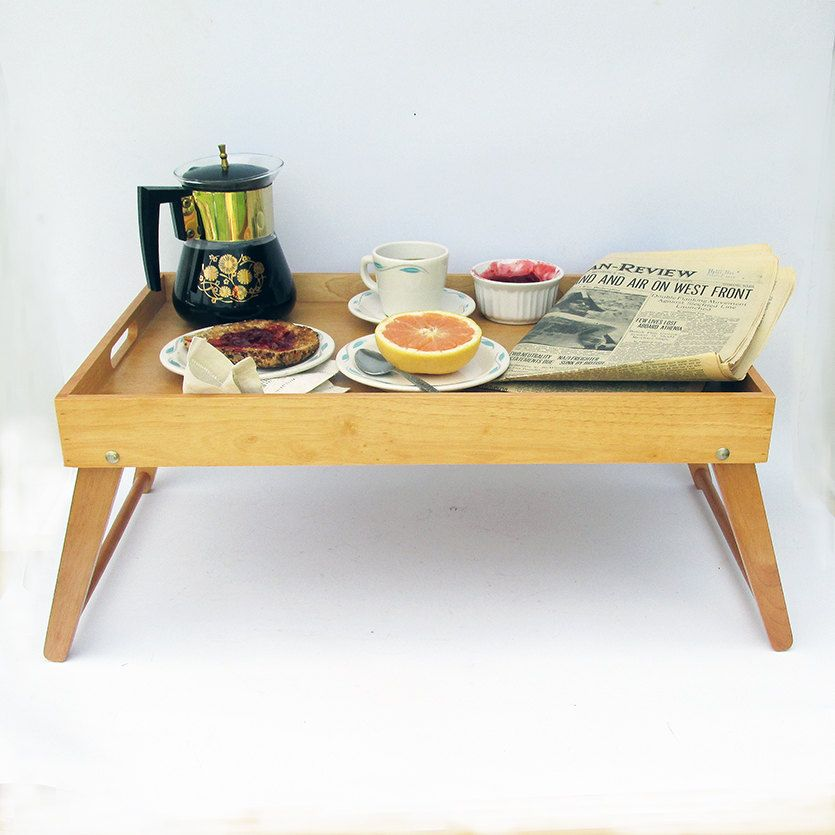 Vintage Wood Lap Table Breakfast In Bed Tray Portable Desk By Leapinglemming On Etsy Vintage Wood Breakfast In Bed Lap Table