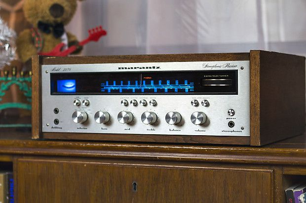 Marantz 2230 Stereo Receiver w/ Wood case & LED Upgrade