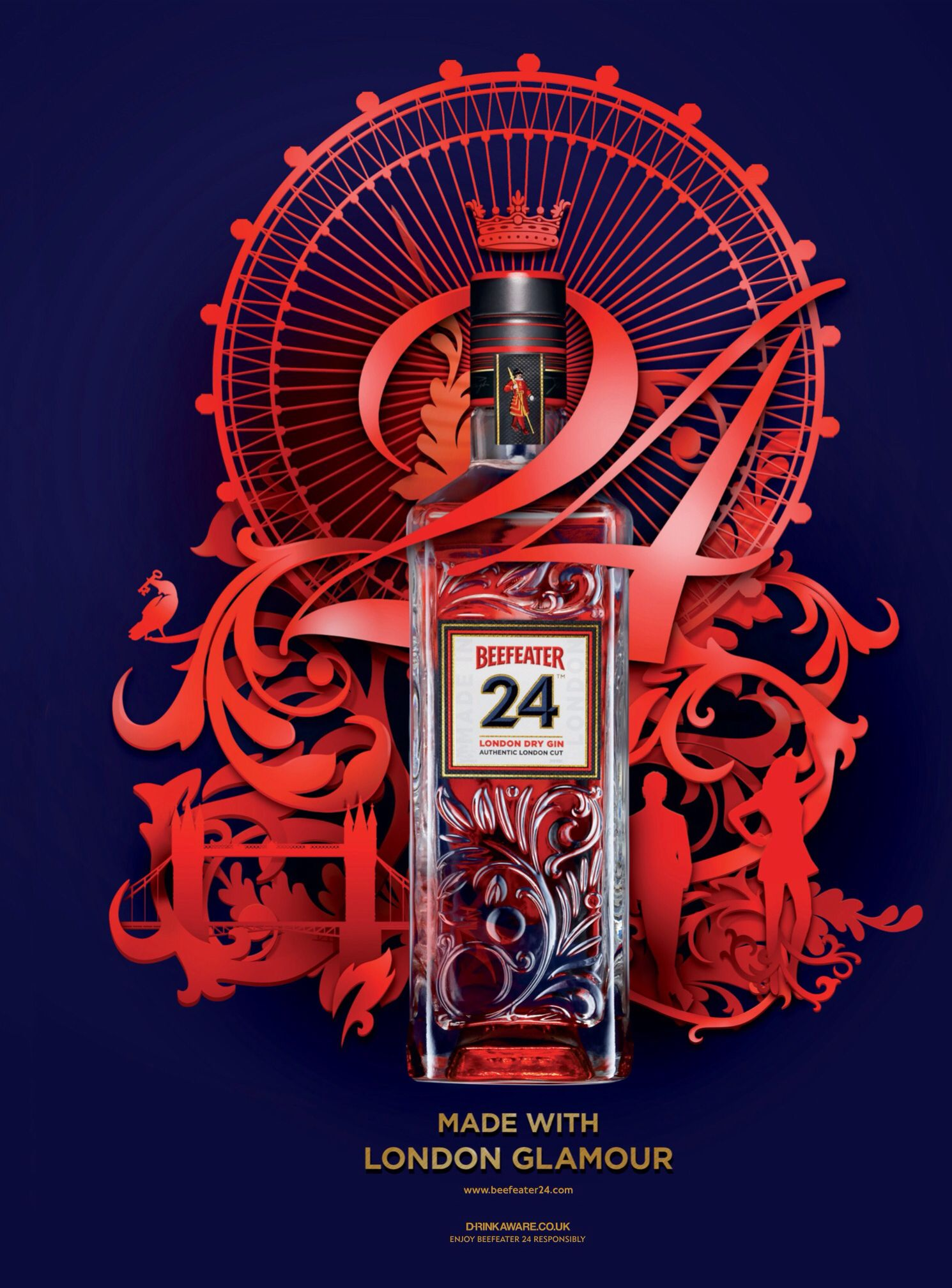 Beefeater Gin London Glamour Advertising Campaign Advertising Design Visual Design Creative Advertising