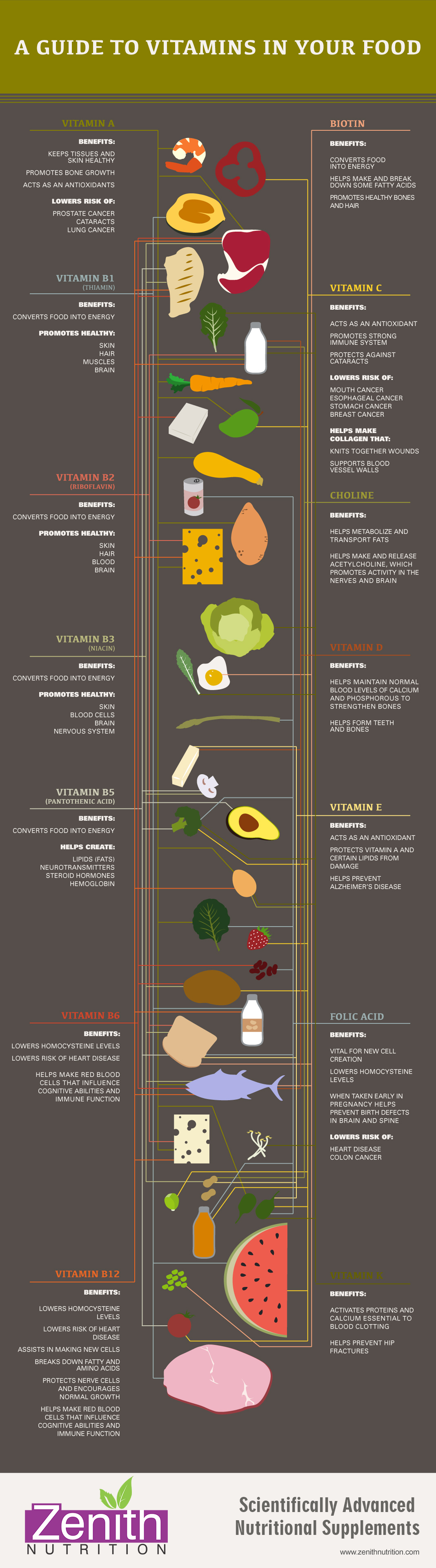 A guide to vitamins in your food vitamin a biotin