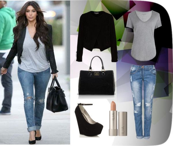 Kim Kardashian Style By Aminaalsahlani Liked On Polyvore