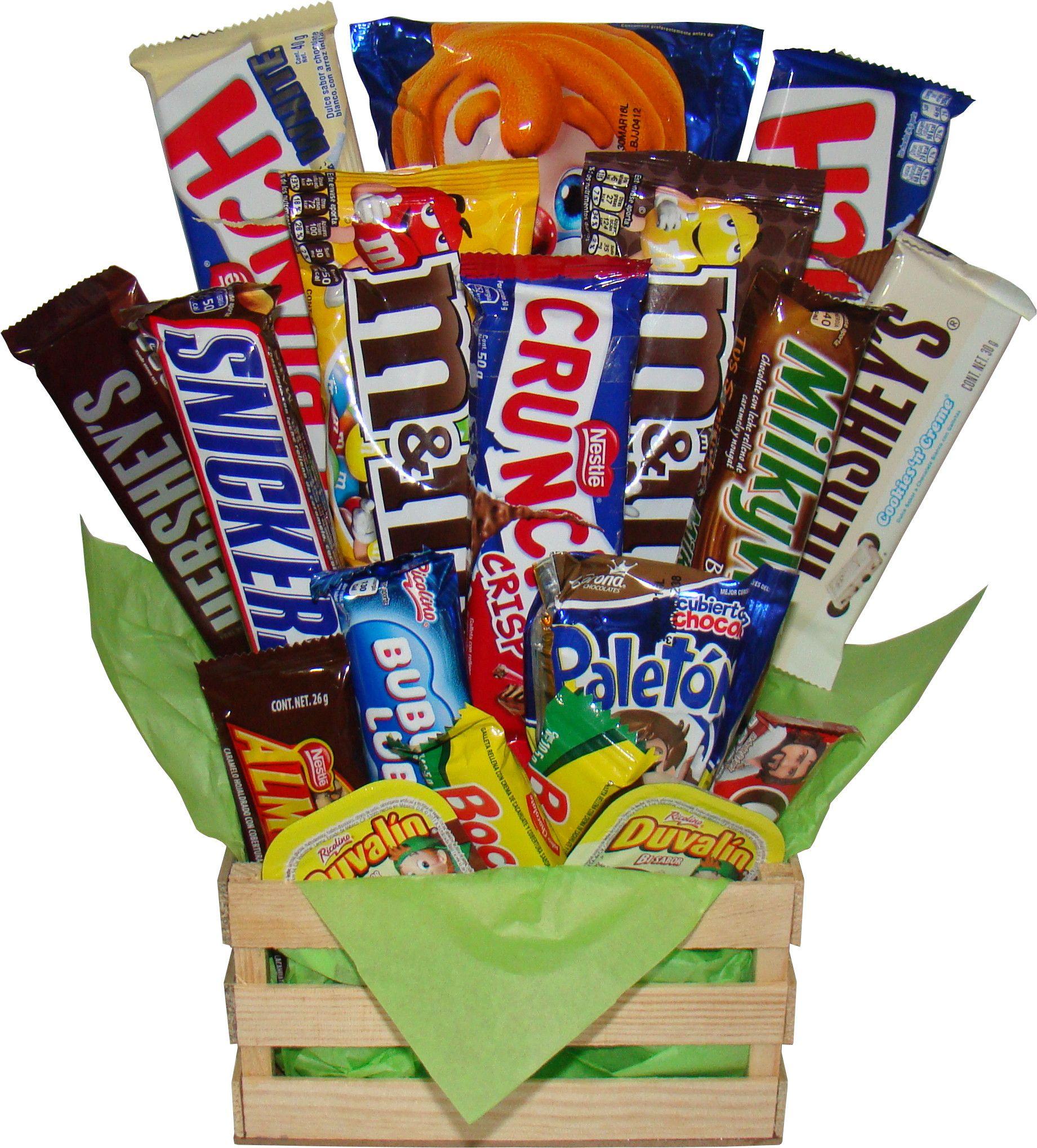Regalo para hombres con varidad de chocolates en huacal for Regalos para hombres online