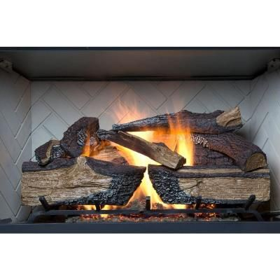 Emberglow Country Split Oak 30 In Vented Natural Gas Fireplace