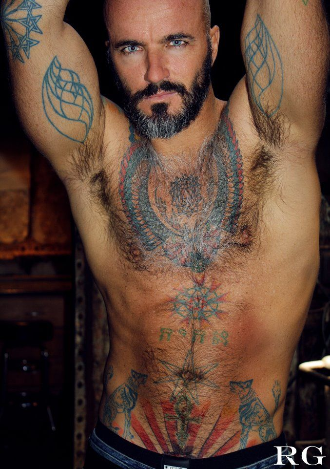 muscle, ink & hairy