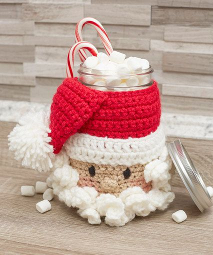 Santa Candy Jar - free crochet pattern by Michele Wilcox for Red ...