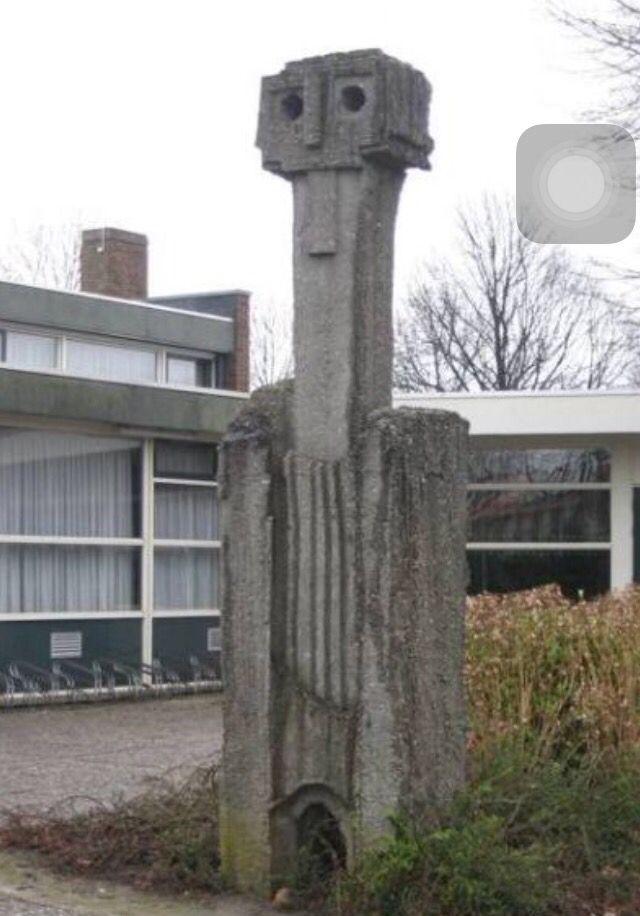'Overlevingskunst' Beton 1967 Dronten Jaap van der Meij Dronten Art Outdoor decor