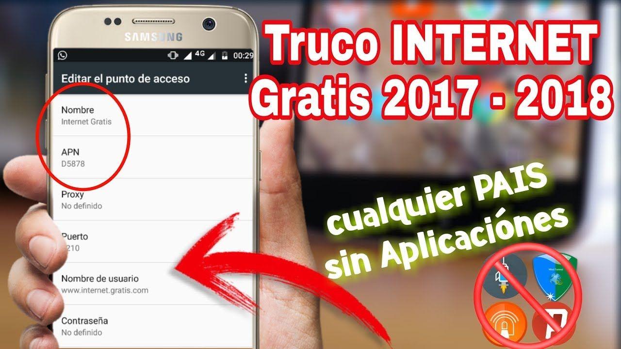 Como Tener Internet Gratis Ilimitado Sin Descargar Aplicaciónes Truco 2017 Youtube Hacking Computer Internet