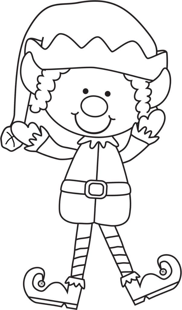 Christmas Elf Coloring Pages | Christmas coloring sheets ...