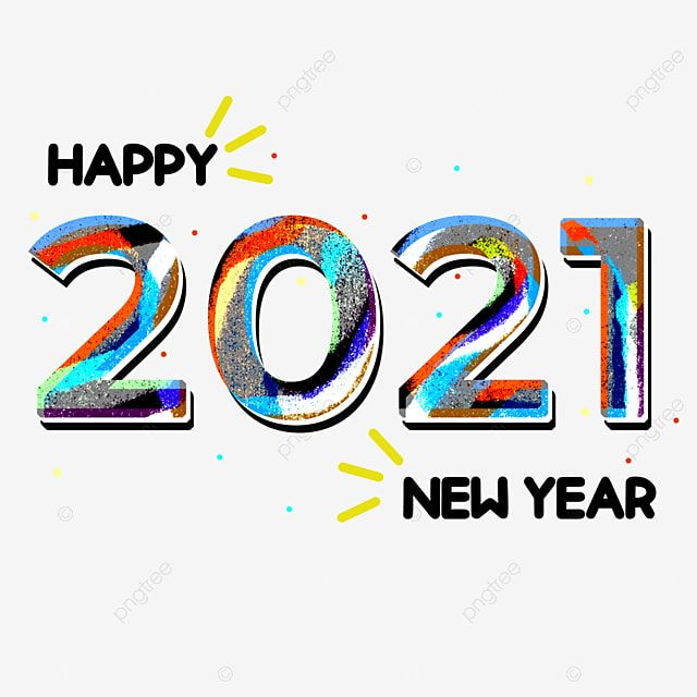 Colorful Ink Watercolor Style Happy New Year 2021 2021 New Year Happy New Year Png Transparent Clipart Image And Psd File For Free Download Happy New Year Png Happy New Year