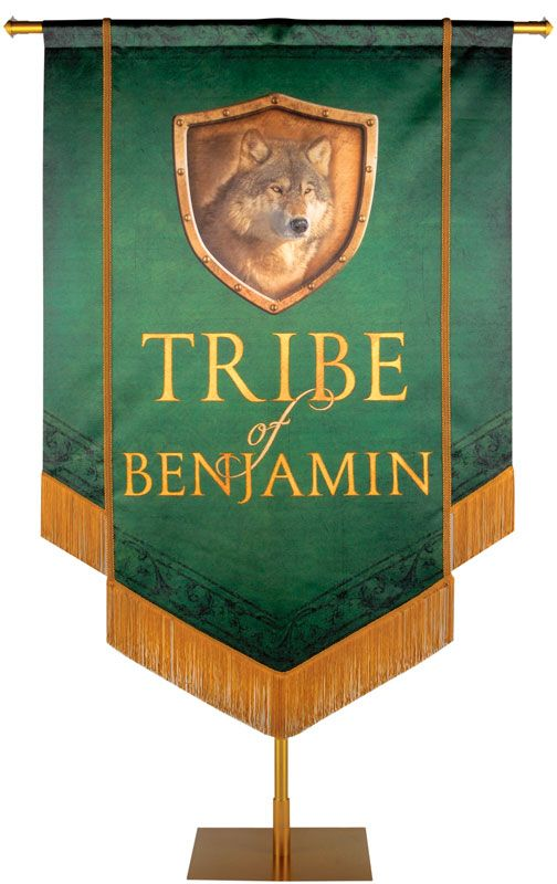 Tribe Of Benjamin Embellished Banner With Images 12 Tribes Of