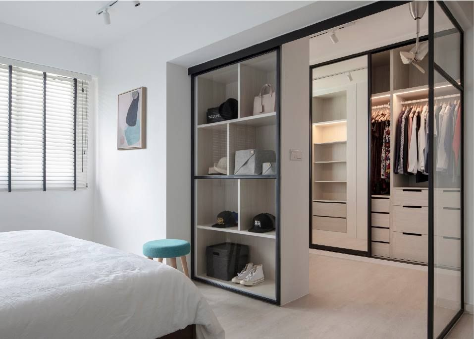 10 Open Concept Walk In Wardrobe Ideas For Your Hdb Wardrobe Door Designs Closet Designs Walk In Wardrobe Design