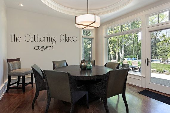 Family Room Wall Decal The Gathering Place Dining Kitchen Decals Vinyl Lettering