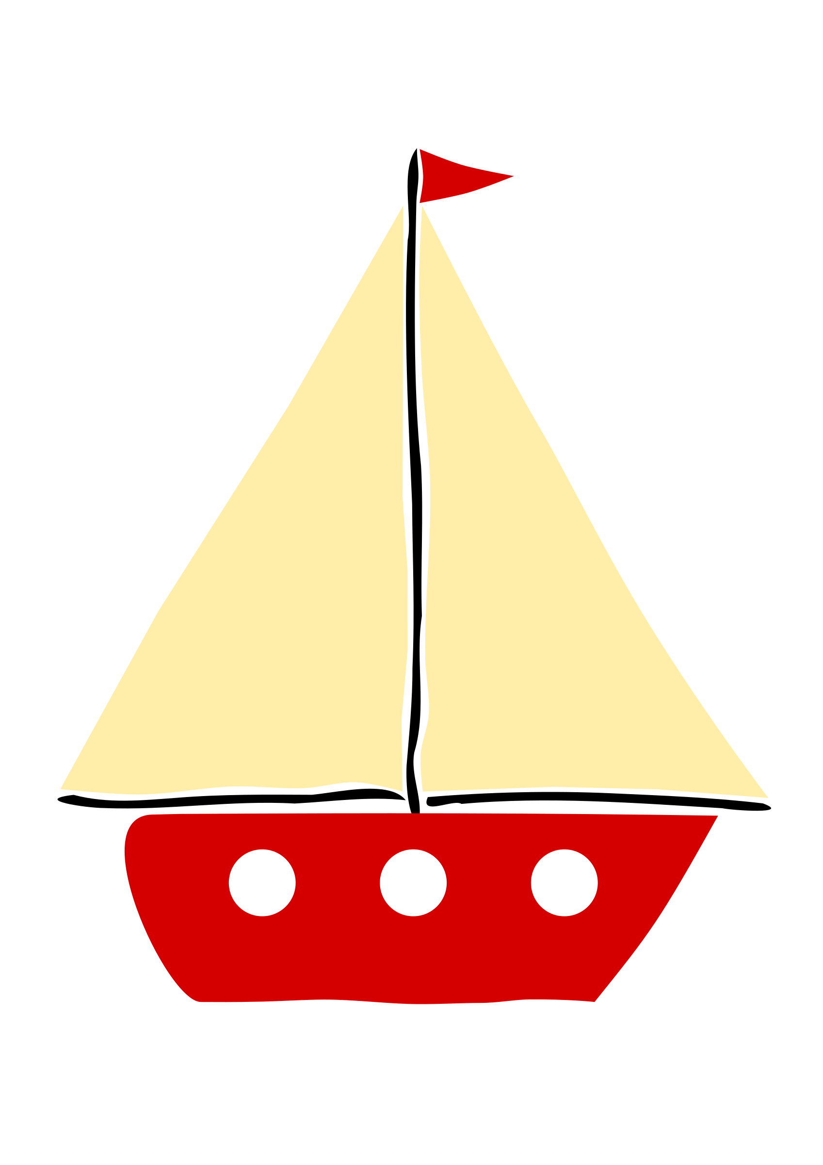 red sail boat 2 by ejmillan modification of my previous drawing