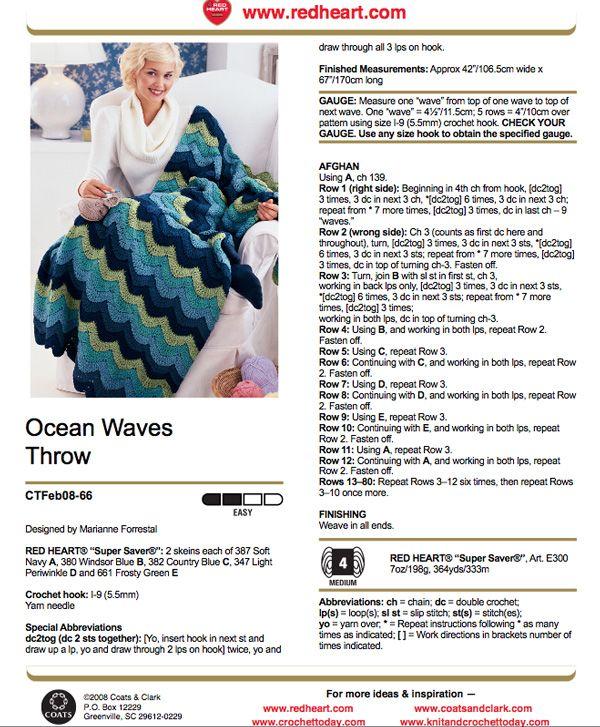 OceanWavesPattern | Stitching-blankets | Pinterest | Manta ...