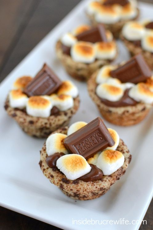 S\'mores Cookie Cups - easy way to enjoy a s\'mores without the mess ...