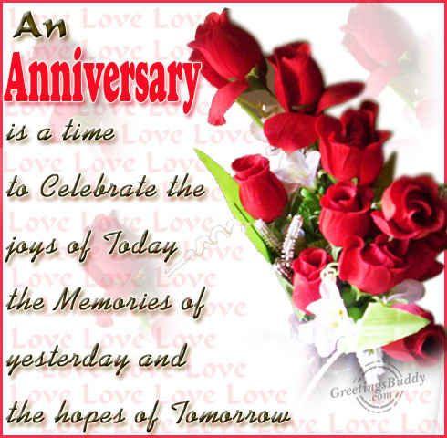 happy anniversary wishes to