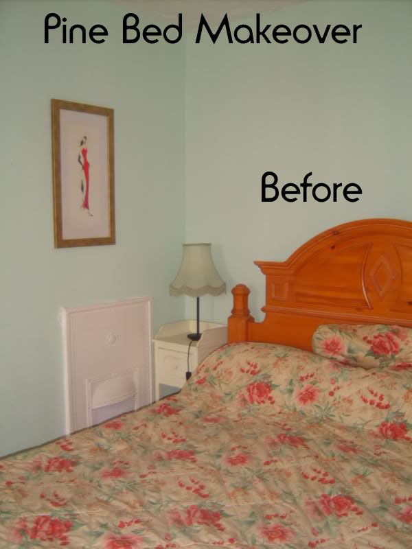 Living On Less Pine Bed Makeover Bed Makeover Pine Beds Bed