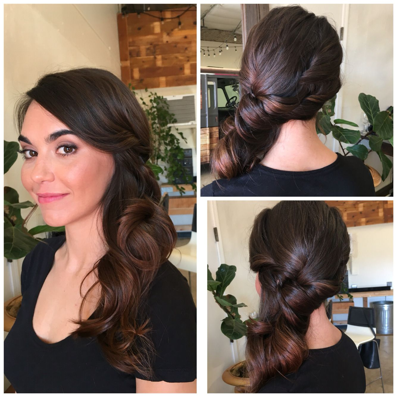 Hairstyles bridesmaids side curls