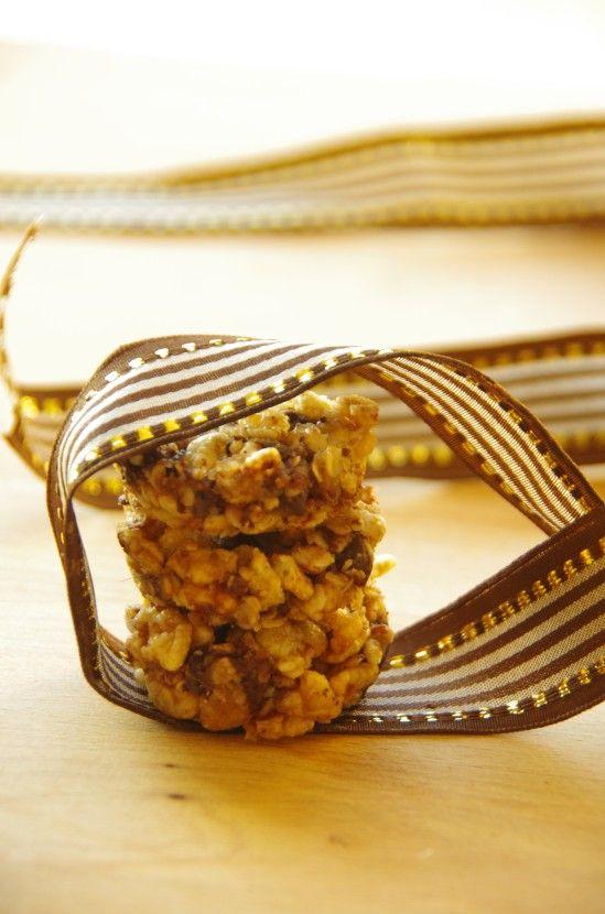 Petits palets miel et avoine aux pépites de chocolat