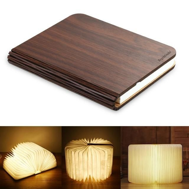 Magic Book Lamp Book Lamp Wooden Books Lamp