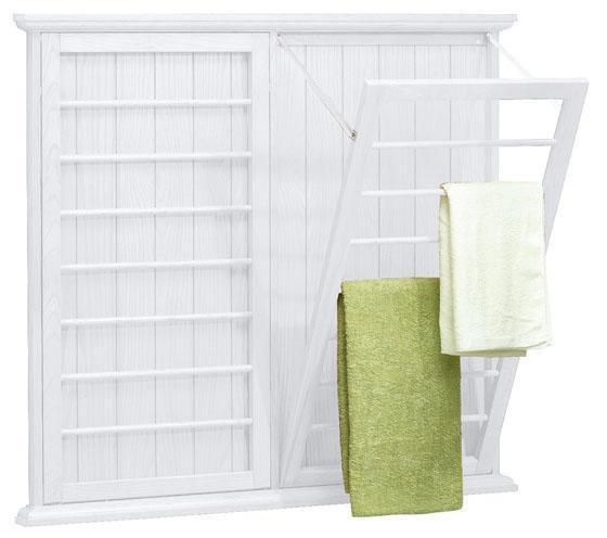 Madison Wall Mounted Laundry Drying Rack Homedecorators