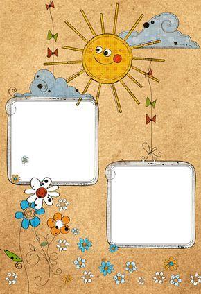 Marcos Fotos Infantiles Para Imprimir Printable Scrapbook Paper Kids Frames Kids Background