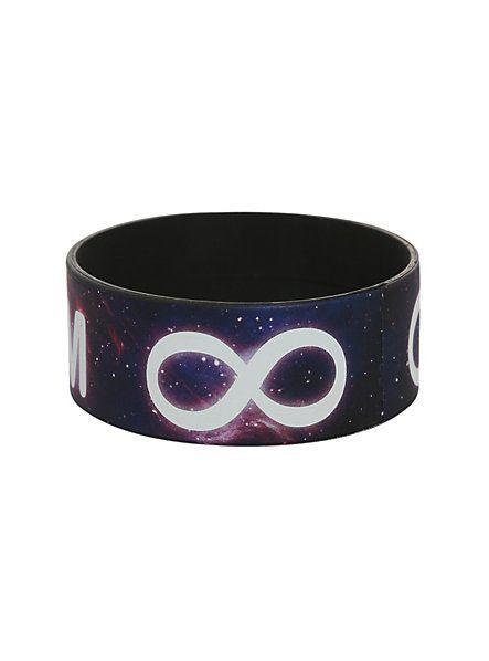 Rubber Bracelets For Mens Galaxy Dream Infinity Rubber Bracelet
