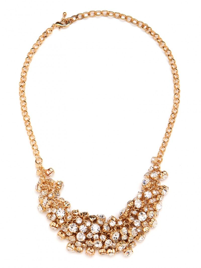 Hello bauble bar gold crystal mix necklace you are mine thank you