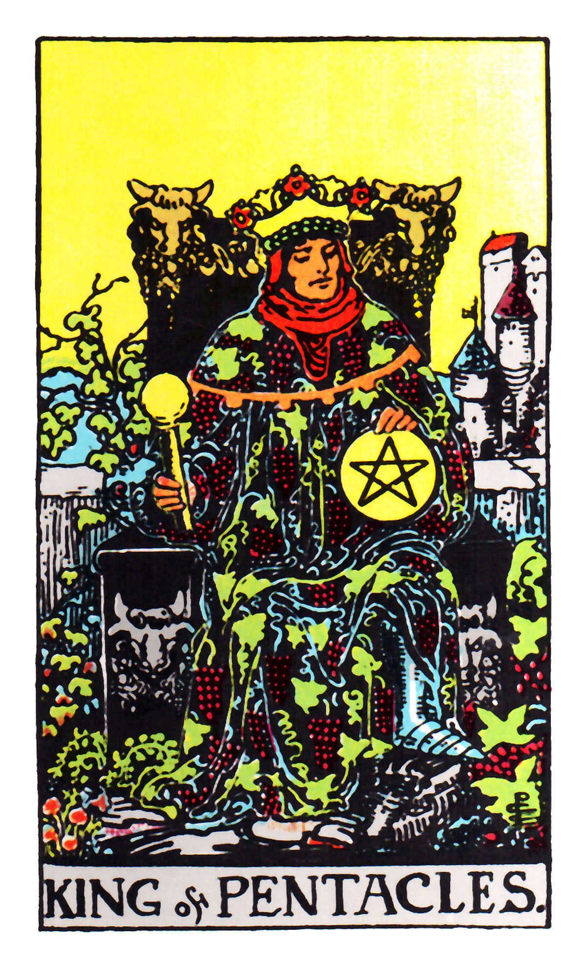 King Of Pentacles ~ Rider Waite