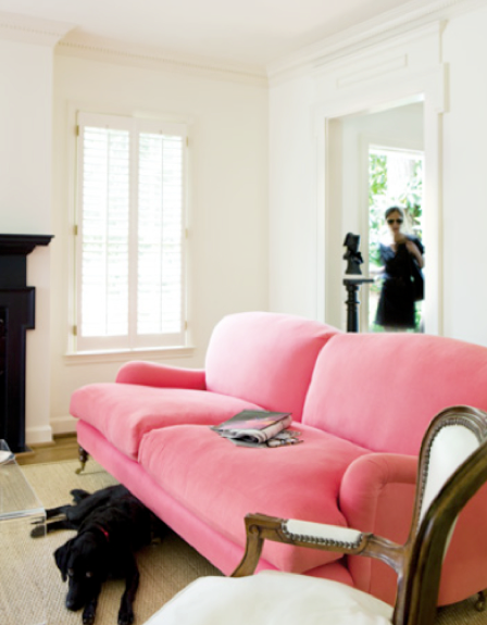 pink william birch sofa | spaces & decor | Pinterest | Birch, Living ...