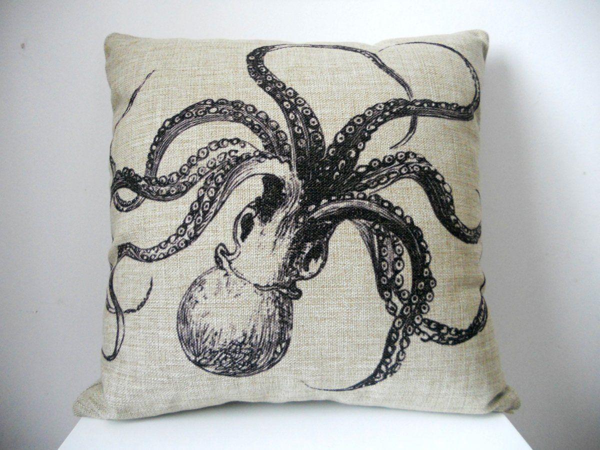"18/"" Home Cotton Linen Car Bed Sofa Cushion Throw Pillow Case Square Skull Cover"