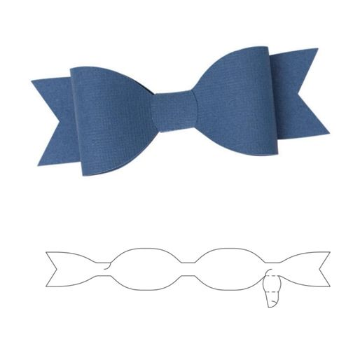 We R Memory Keepers ONE PIECE BOW Template Die 662583 zoom image - bow template