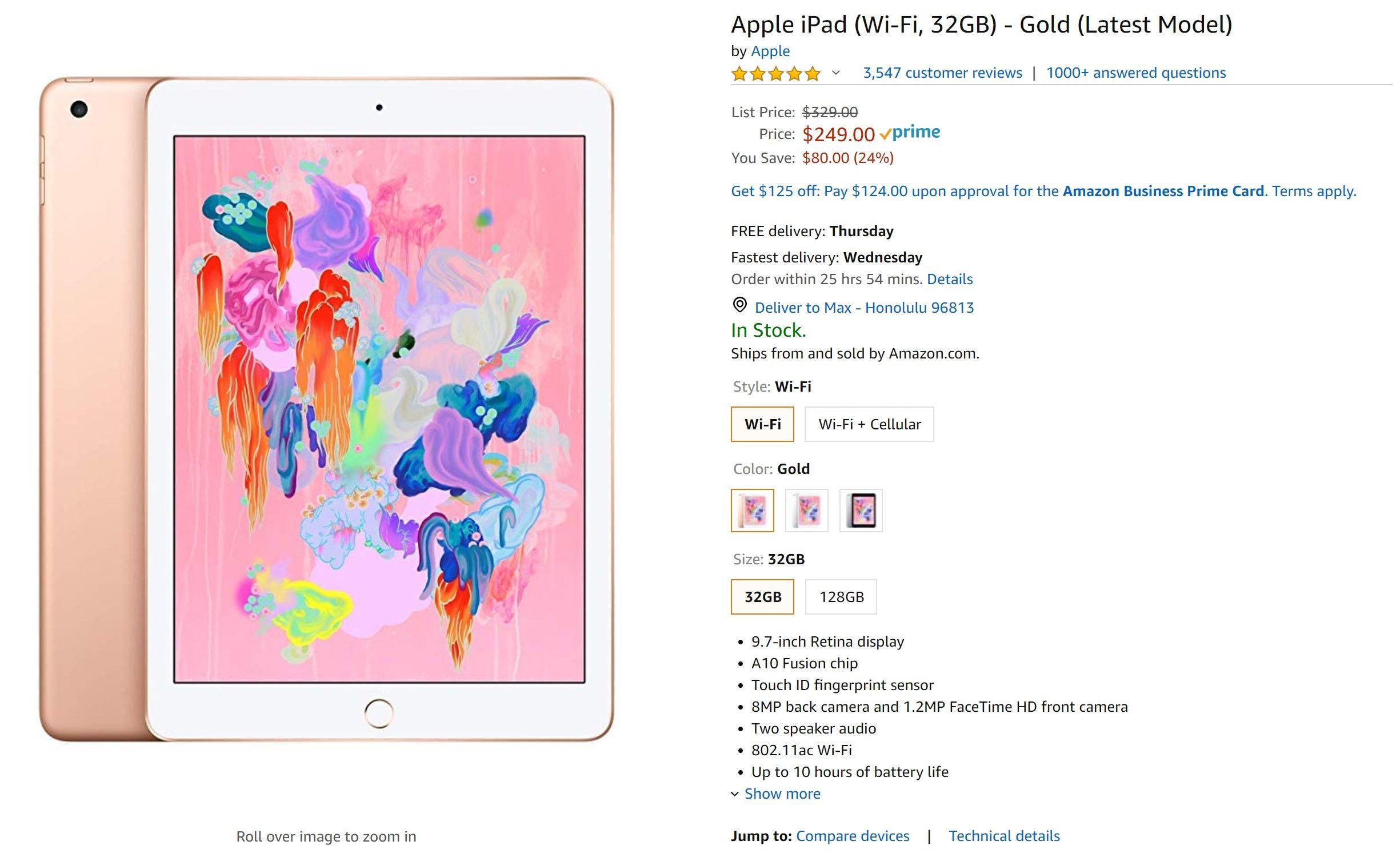 Looking for an iPad? Amazon has slashed prices. 2018 iPad