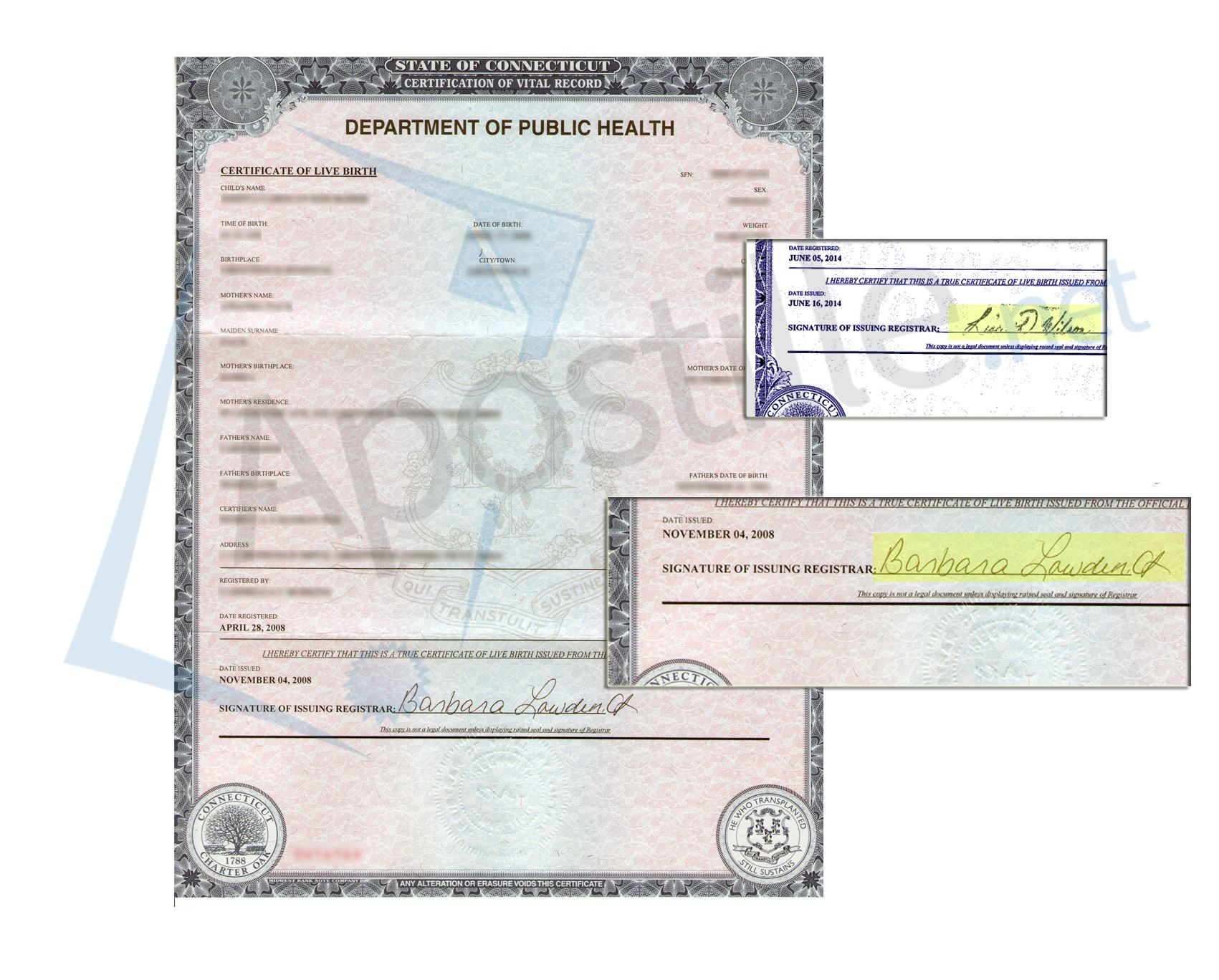 Acceptable Signs To Apostille Certificates Of Live Birth In