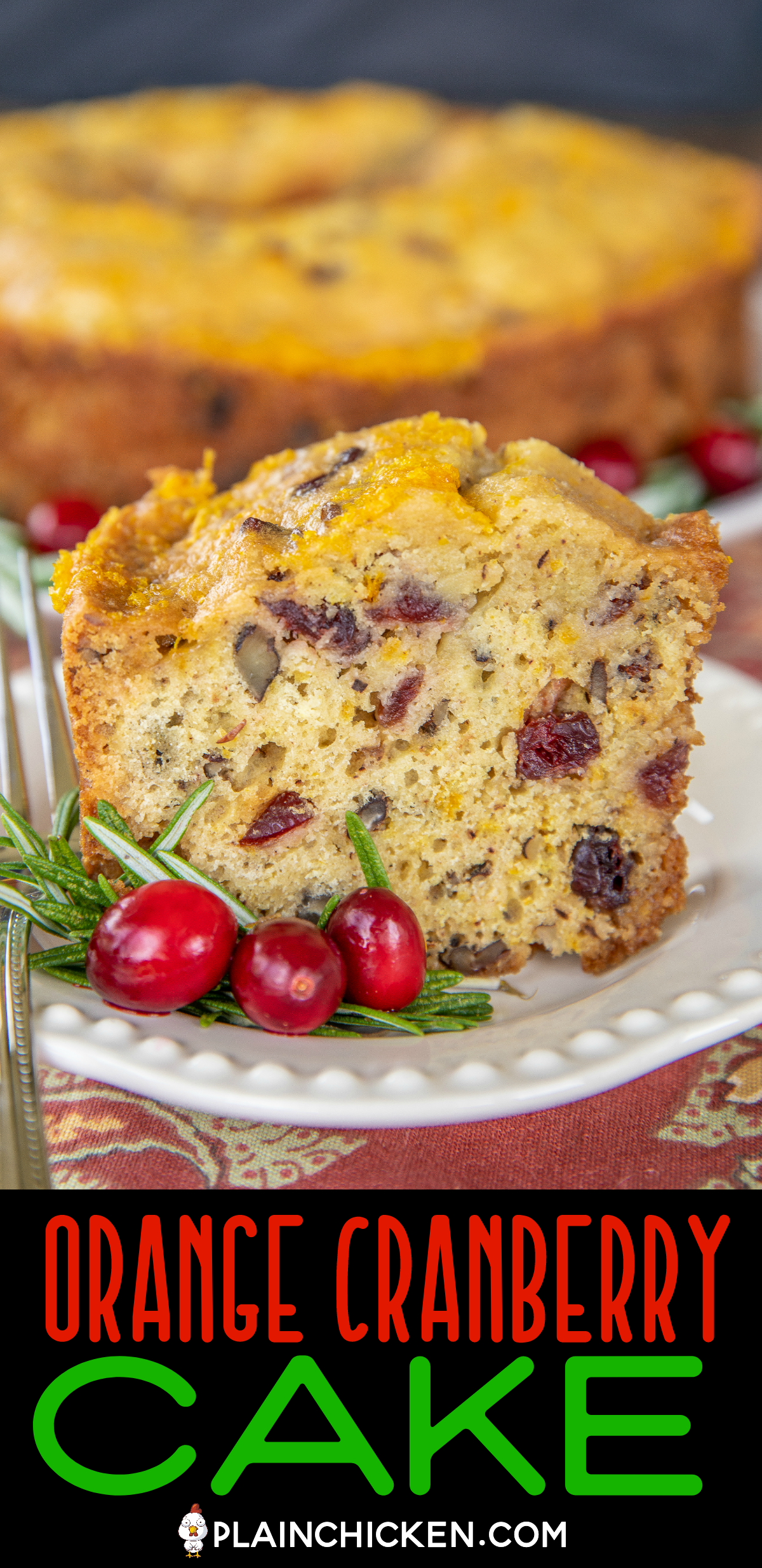 Orange Cranberry Cake Cranberry Orange Cake Cranberry Cake Dried Cranberries Recipes
