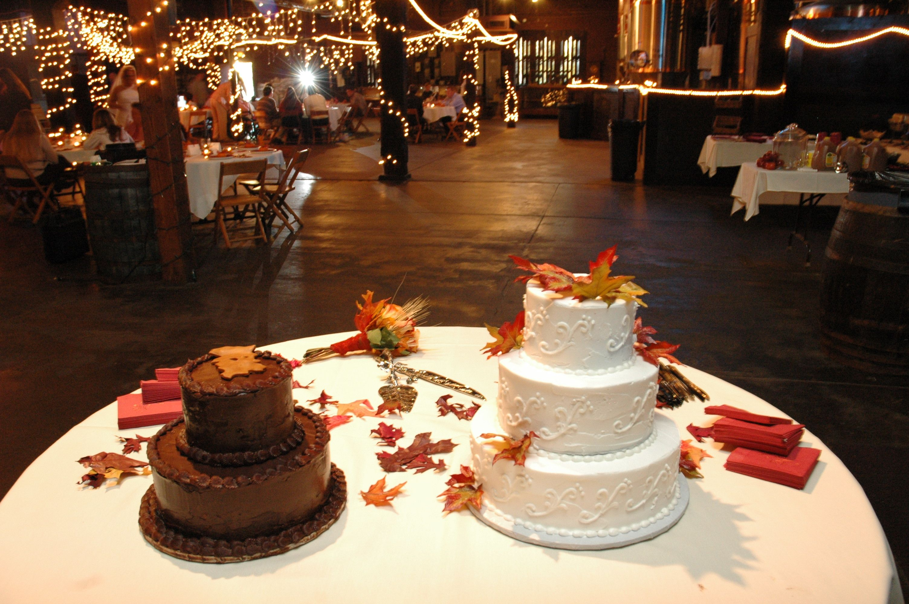 Cake Table with main cake and groom cake