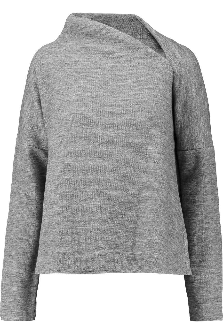 BY MALENE BIRGER Asymmetric slub jersey sweater. #bymalenebirger #cloth #sweater