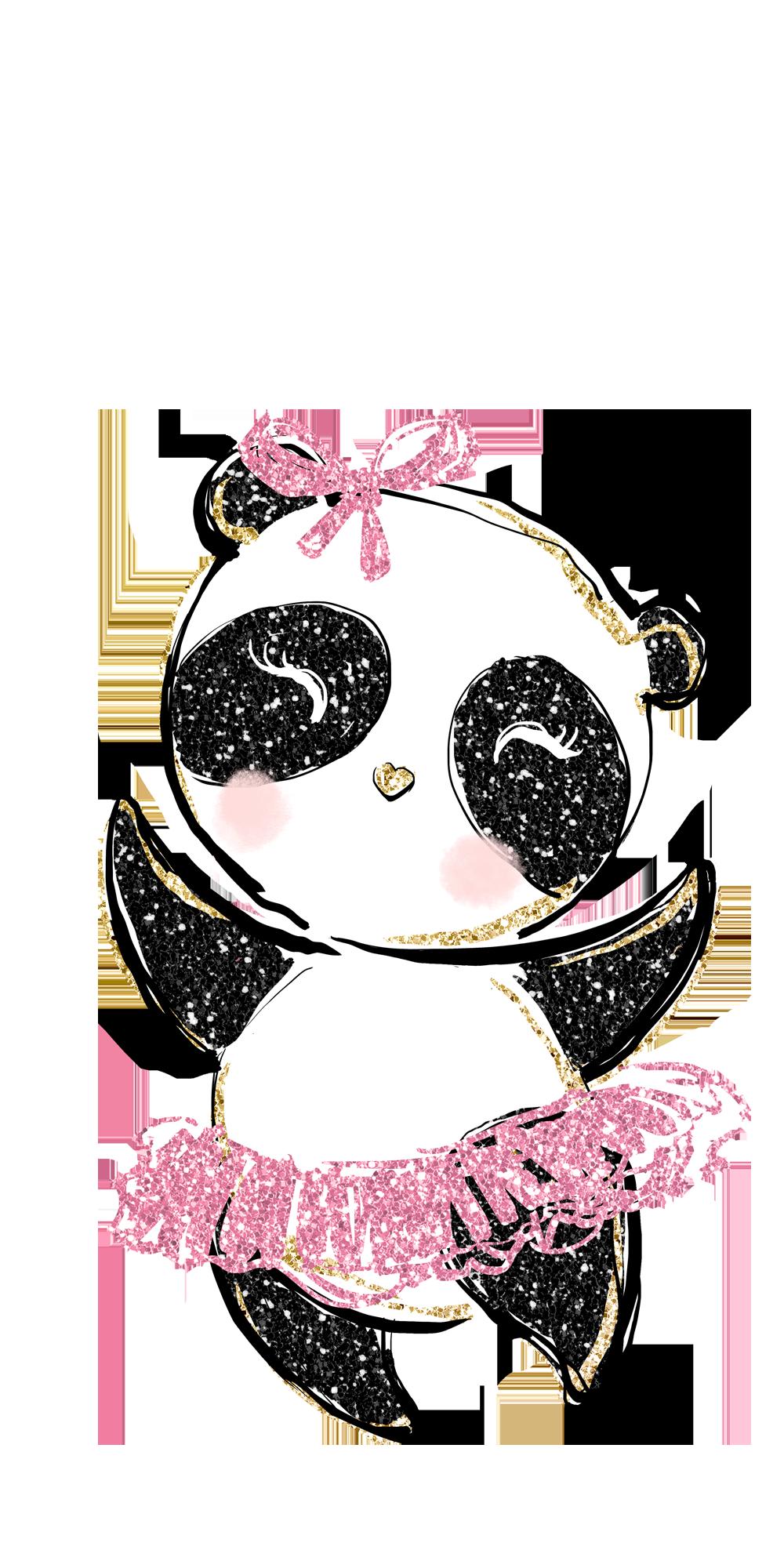 Dancing Panda Casetify Iphone Art Design Illustration Cute Animals Ballet Panda Wallpaper Iphone Wallpaper Iphone Cute Dance Wallpaper