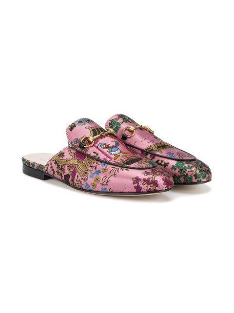 14e3435bf69 Gucci Princetown Donald Duck slippers