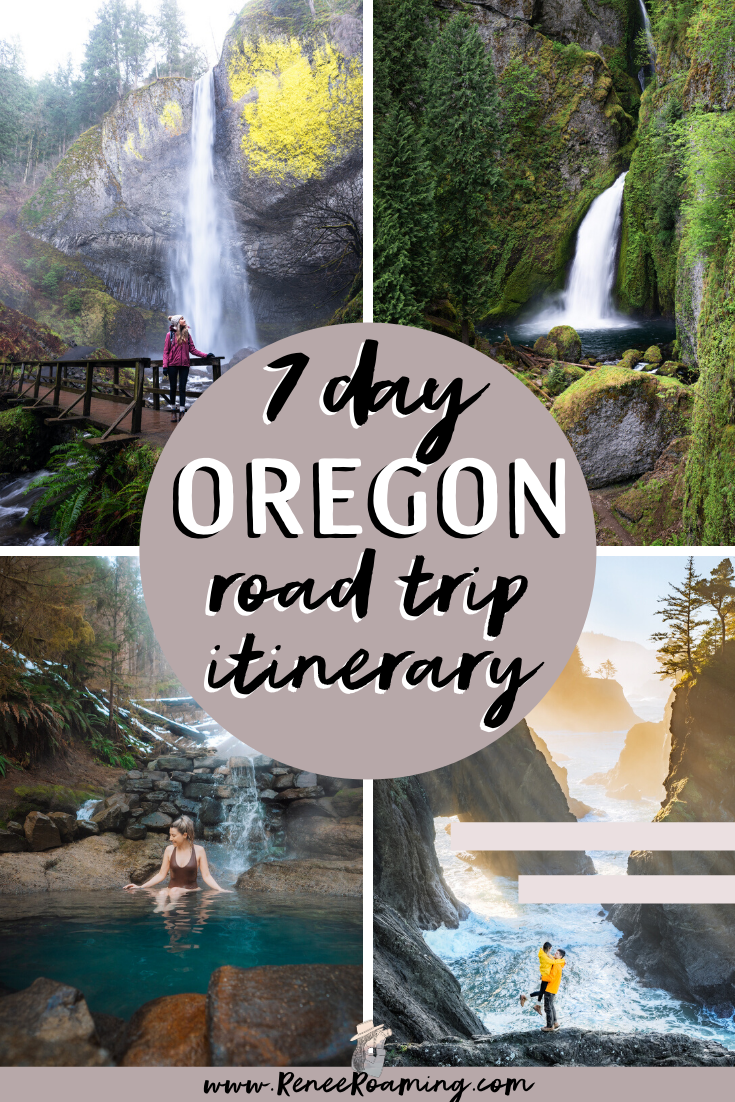 Oregon is one of my favorite road trip destinations. It is home to some of the most beautiful coastline, mountains, waterfalls, lakes, and hot springs in the United States! To help you explore it for yourself, I've put together a comprehensive Oregon 7 day road trip itinerary. You will also find optional add-on's in case you want to extend your trip, a packing guide, my top road trip tips, and more! #OregonRoadTrip #PacificNorthwest #PNW #Oregon