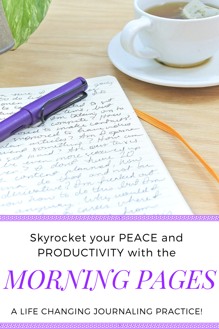 Clear your mind, Find your true calling, and Increase productivity all with one 15 minute journaling practice called the Morning Pages!