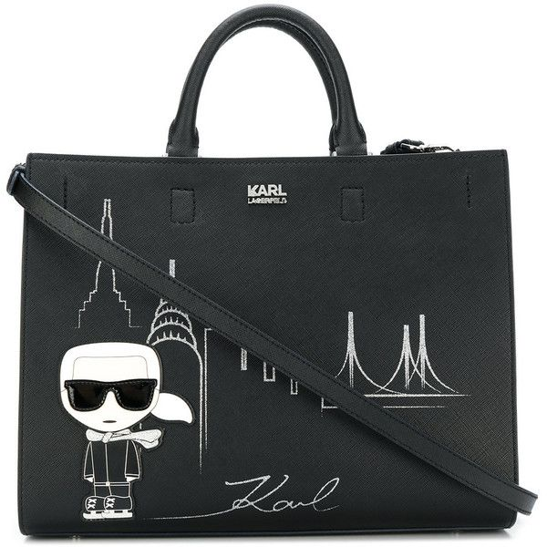 Karl Lagerfeld Nyc Tote 365 Liked On Polyvore Featuring Bags Handbags
