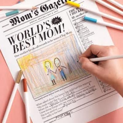 Mother's Day Newspaper Card {Kids Mothers Day Cards}